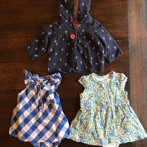 Lot Of Three Baby Girl Pieces 3M